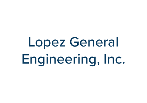 Lopez General Engineering, Inc. Logo Text